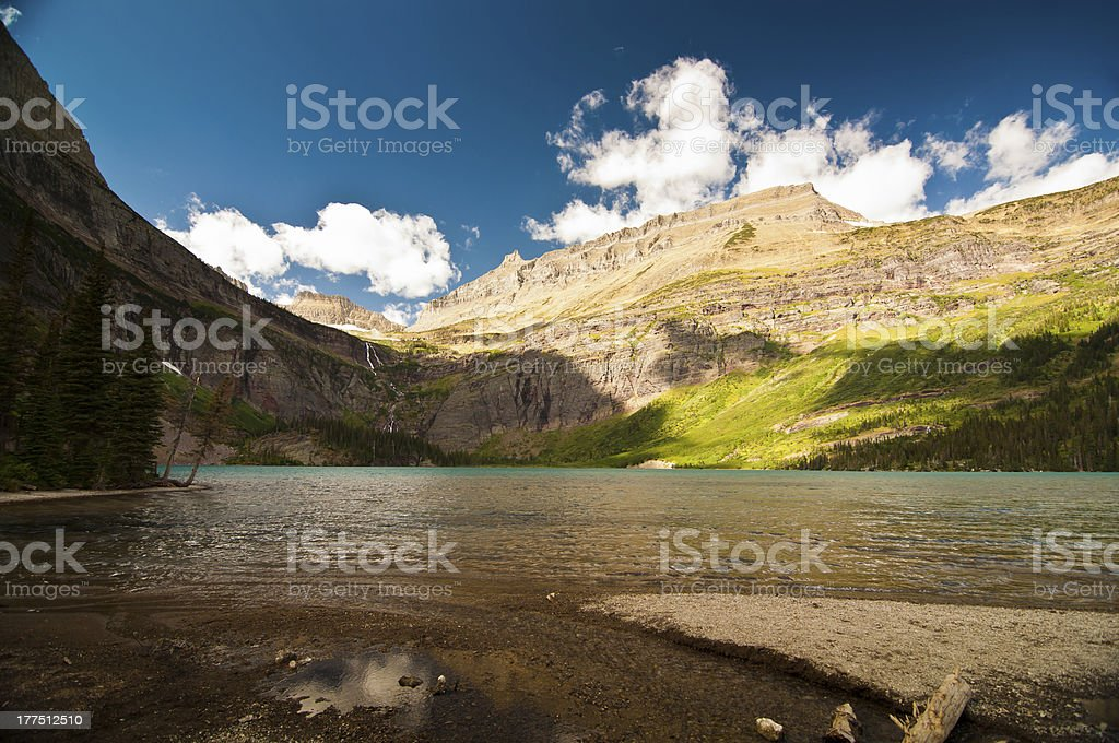 Grinnell Lake, Glacier National Park royalty-free stock photo