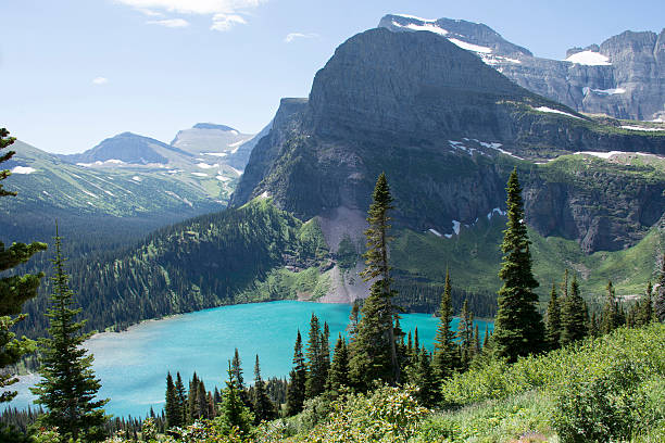 grinnell lake - glacier national park - us glacier national park stock pictures, royalty-free photos & images