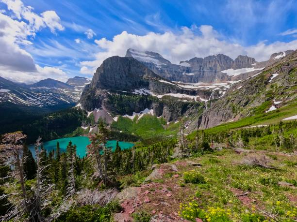 grinnell - going to the sun road stock pictures, royalty-free photos & images