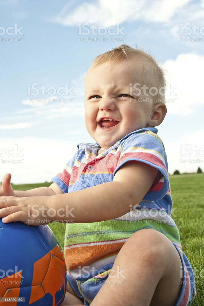 Grinning Baby royalty-free stock photo