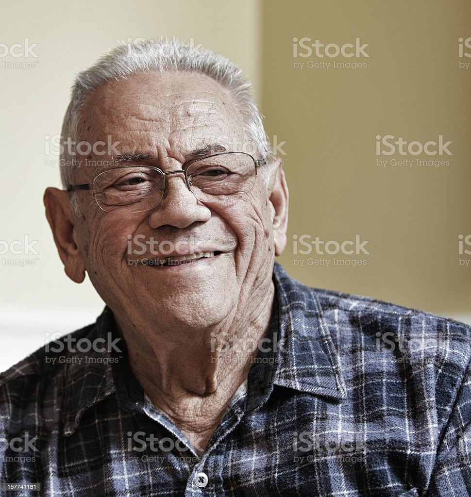 Grinning Grandpa royalty-free stock photo
