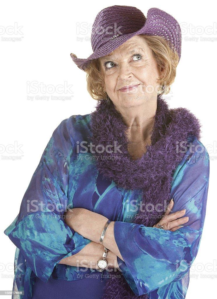Grinning Senior Lady royalty-free stock photo
