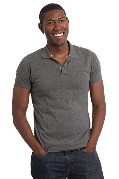 Grinning Young Man Standing stock photo
