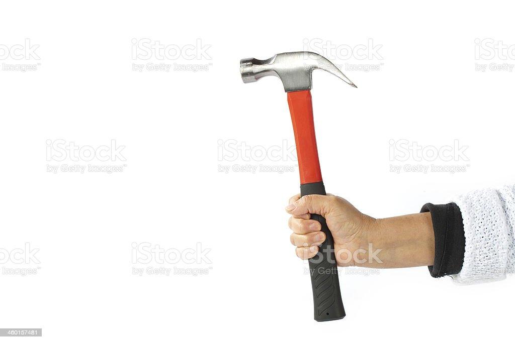 Gripped hammer stock photo