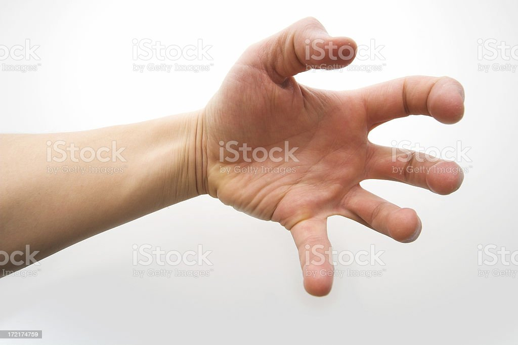 Gripping hand royalty-free stock photo
