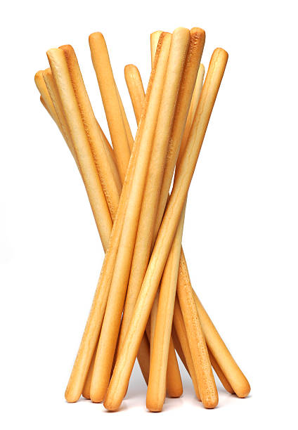 Grissini food sticks isolated on white stock photo