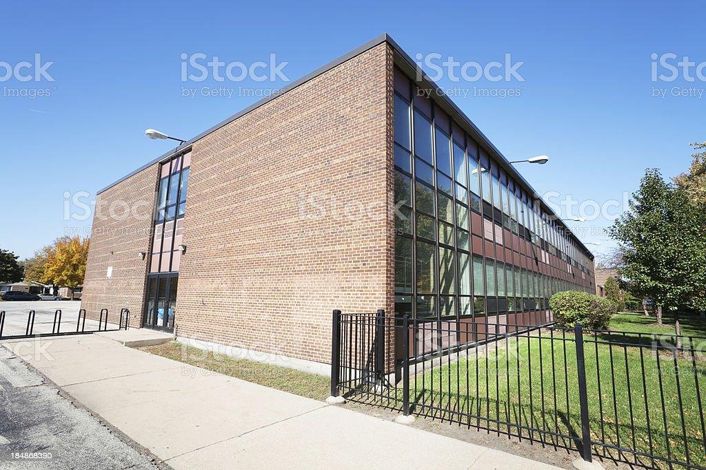Grissom Elementary School in Hegewisch, Chicago royalty-free stock photo