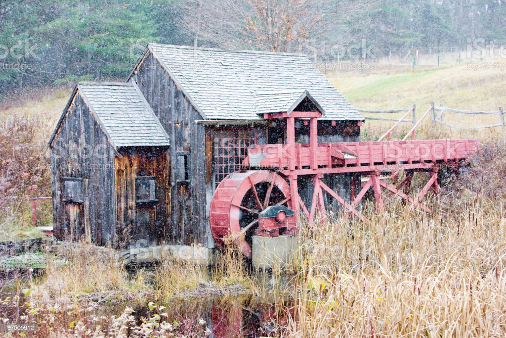 grist mill near Guilhall royalty-free stock photo