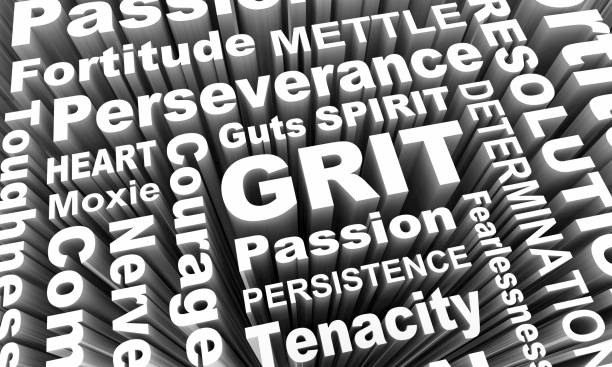 Grit Passion Perseverance Persistence Word Collage 3d Illustration Grit Passion Perseverance Persistence Word Collage 3d Illustration persistence stock pictures, royalty-free photos & images