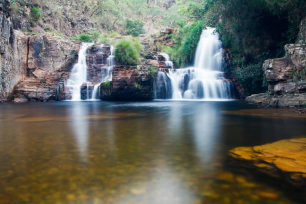 Grito waterfall, sun trail, Capitolio Minas Gerais stock photo