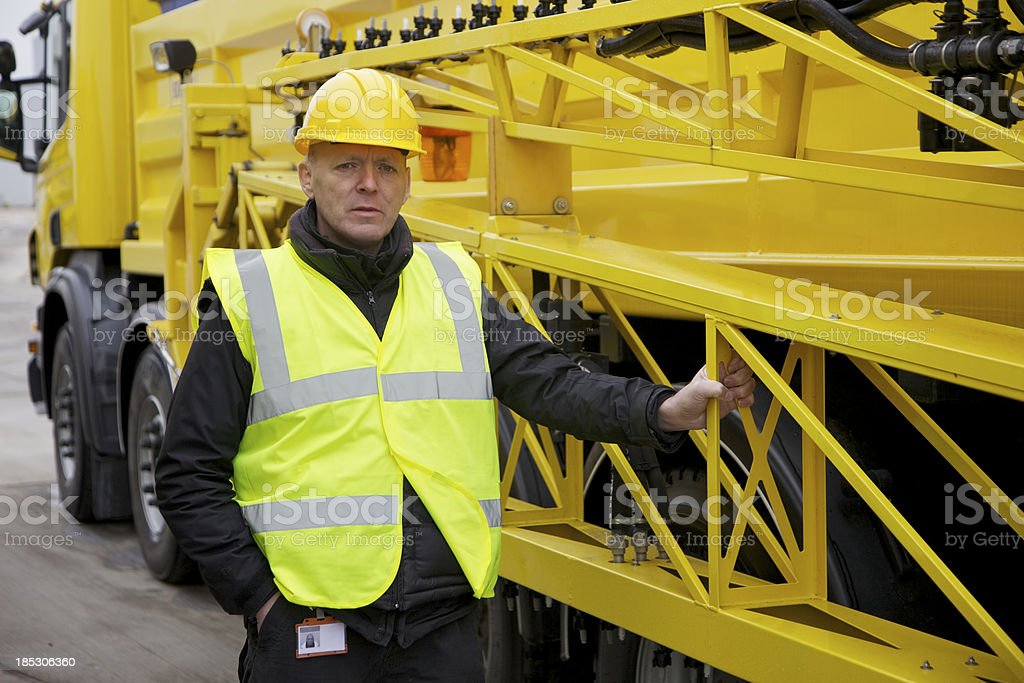 Gritter Driver... stock photo