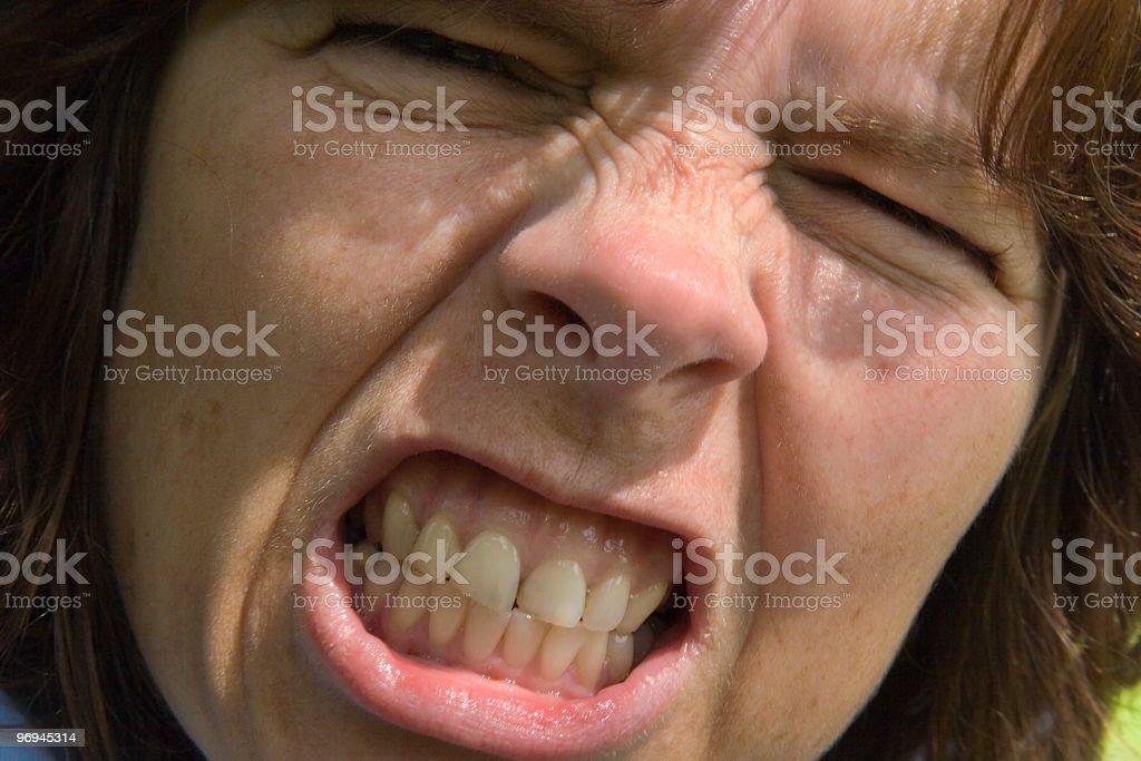 Gritting Teeth royalty-free stock photo