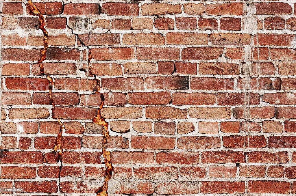 Gritty Brick Wall royalty-free stock photo