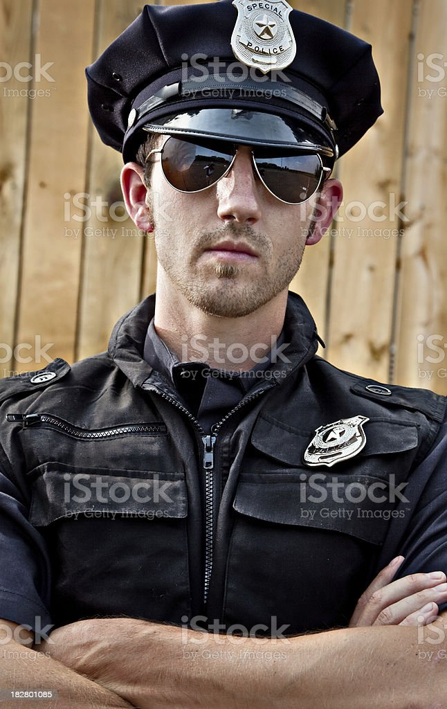 Gritty Policeman royalty-free stock photo