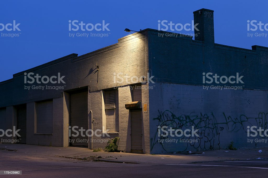 Gritty Warehouse stock photo
