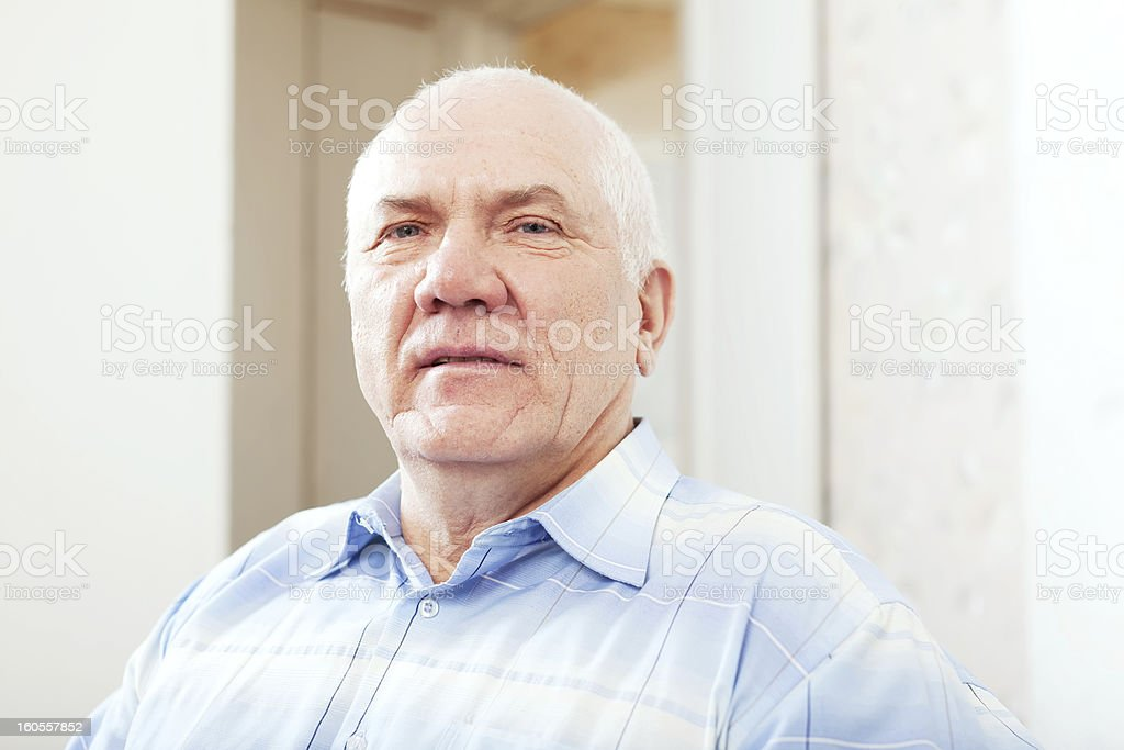 grizzled senior man royalty-free stock photo