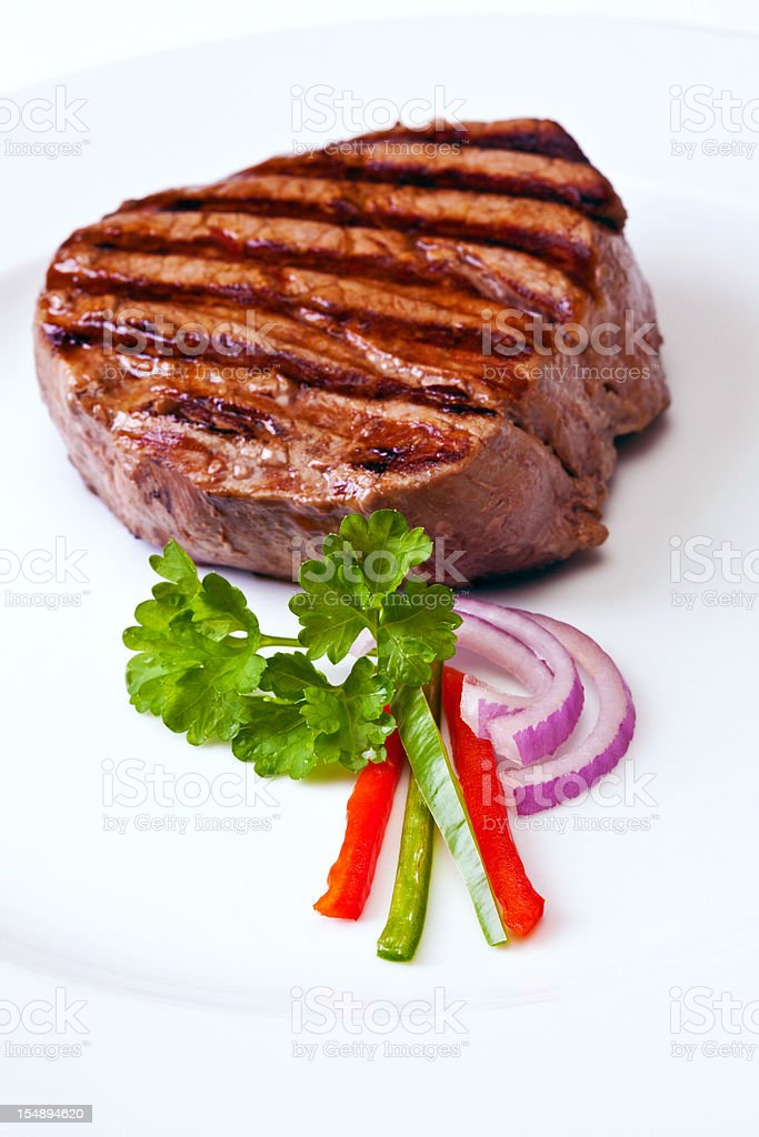 Grlled Steak royalty-free stock photo