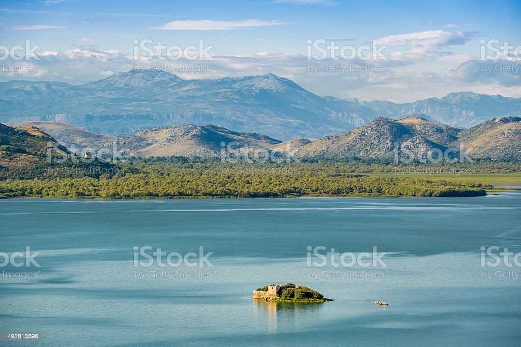 Grmozur fortress in the island stock photo