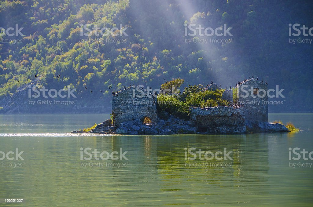 Grmozur fortress, Lake Skadar, Montenegro, Europe stock photo