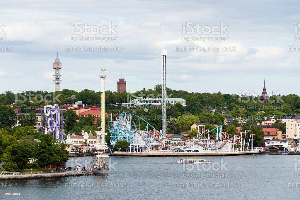 Gröna Lund Amusement Park - Stockholm, Sweden royalty-free stock photo
