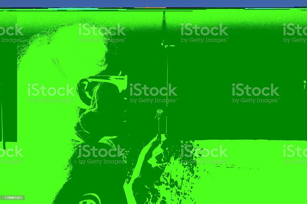 Grüne Energie und Rote Haare mit Pusteblume 3 royalty-free stock photo