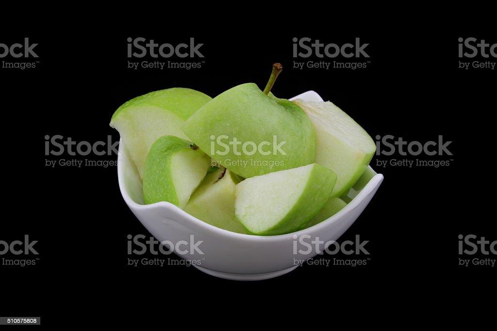grünem Apfel stock photo