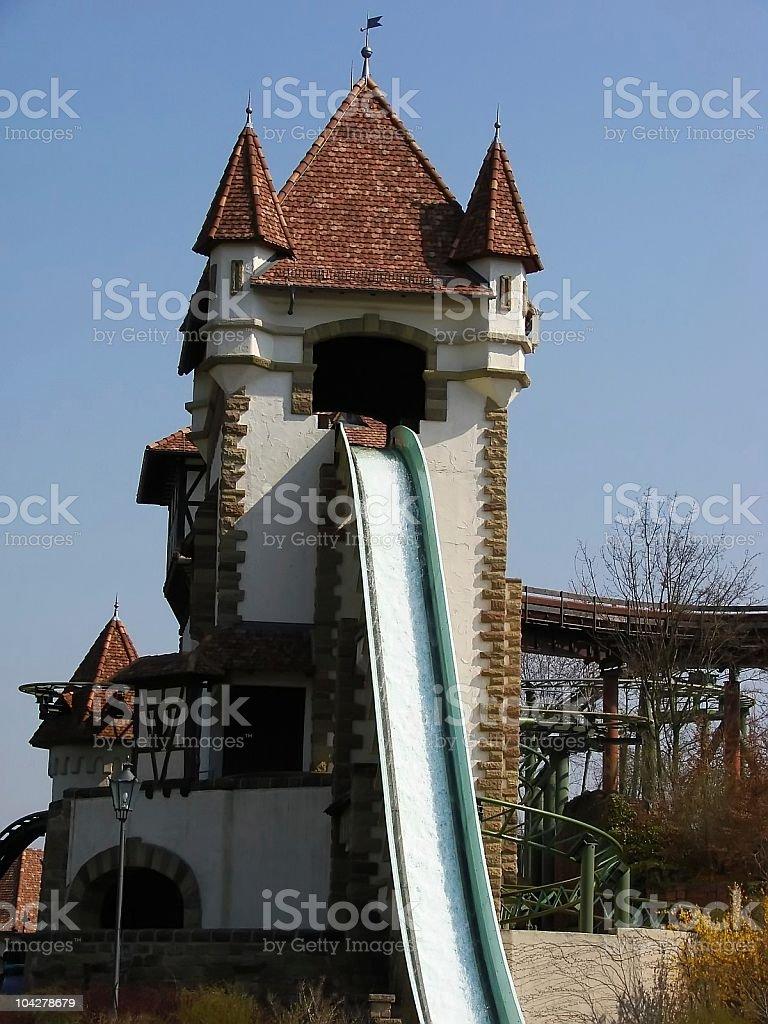 Große Wasserrutschbahn stock photo