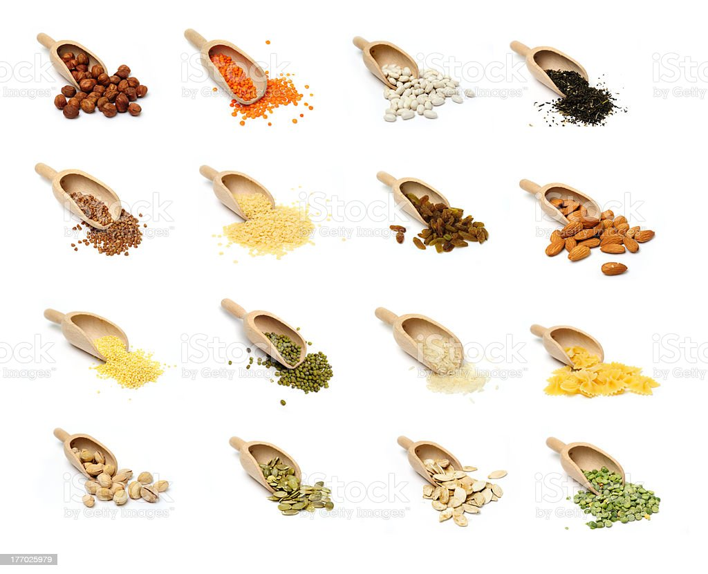 Groats and nuts royalty-free stock photo