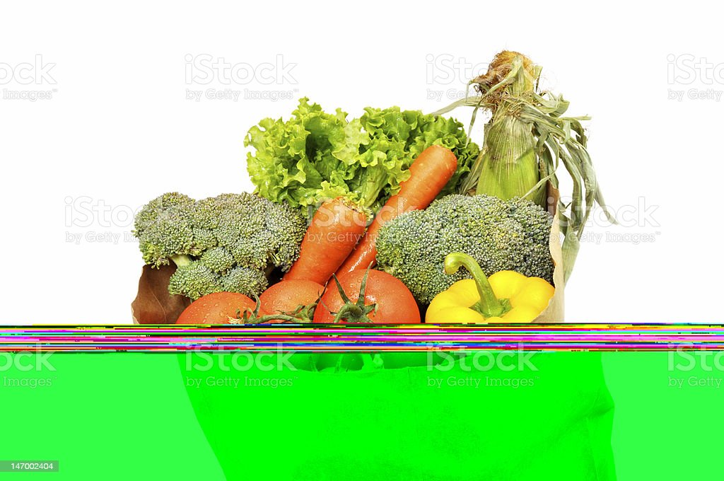 Groceries, Bag, Isolated royalty-free stock photo