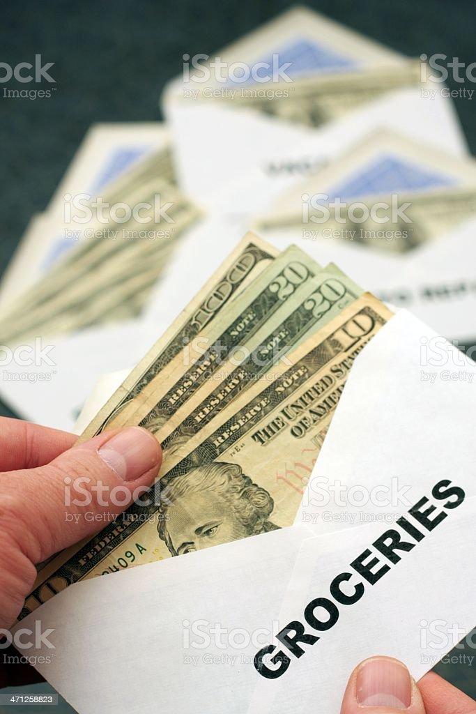 Groceries Envelope royalty-free stock photo