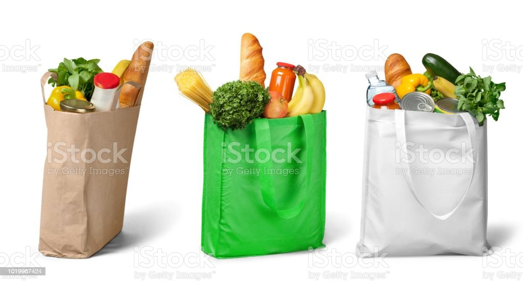 Groceries. stock photo
