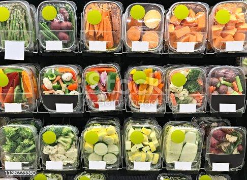 Groceries in supermarket