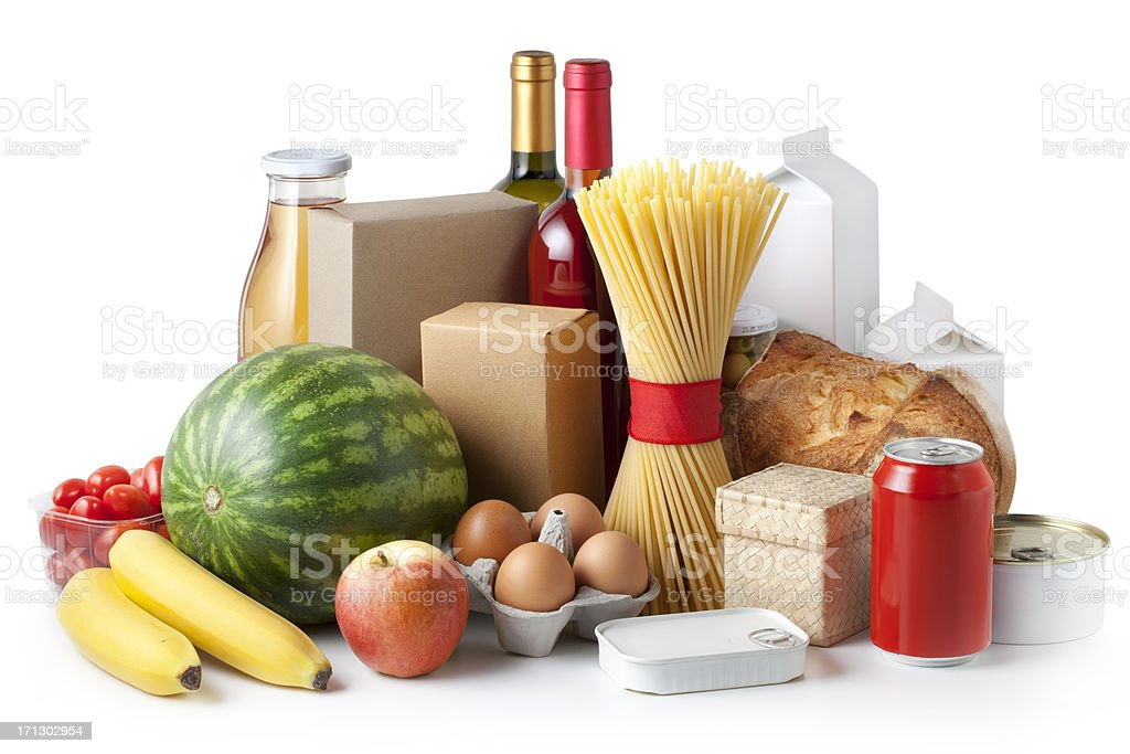 Groceries royalty-free stock photo