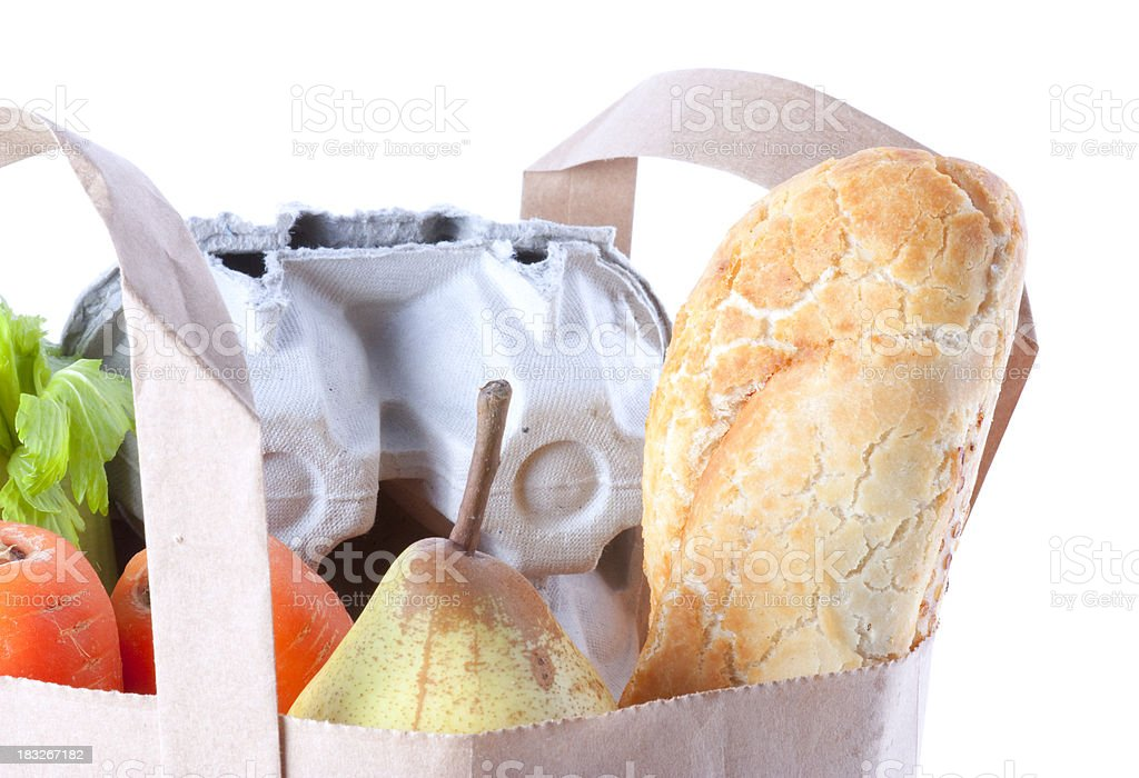 Grocery Bag Close Up royalty-free stock photo