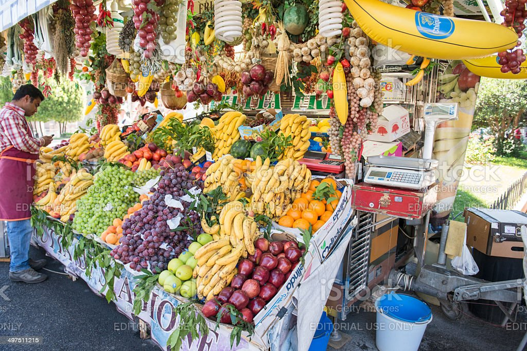 grocery market shop lightbox stock photo