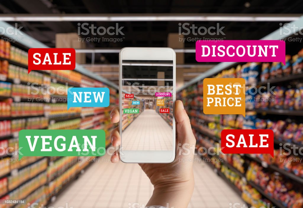 Grocery Online stock photo
