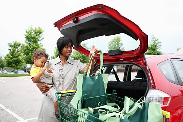 alimentari shopping - caricare attività foto e immagini stock
