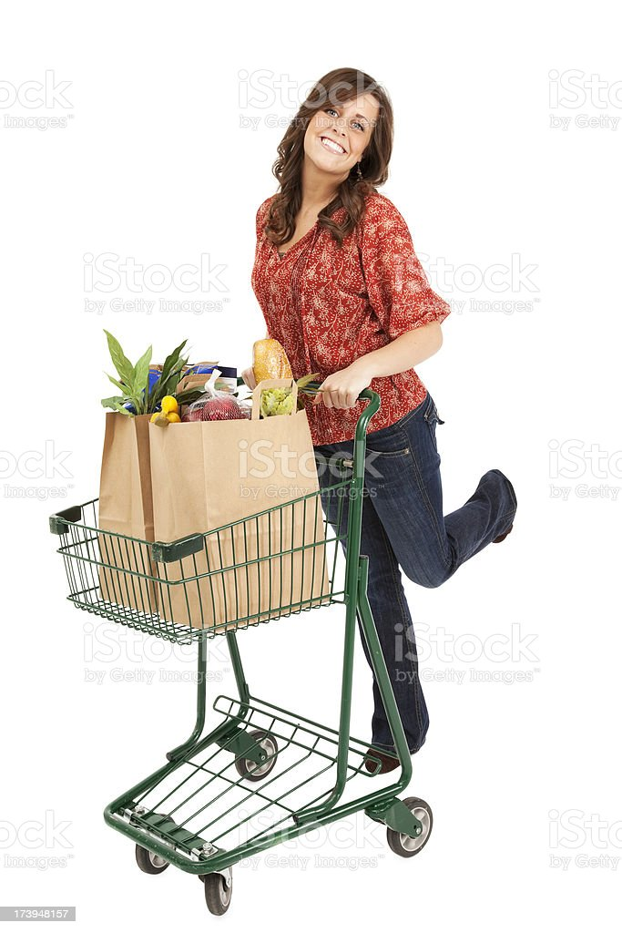 Grocery Shopping Woman royalty-free stock photo