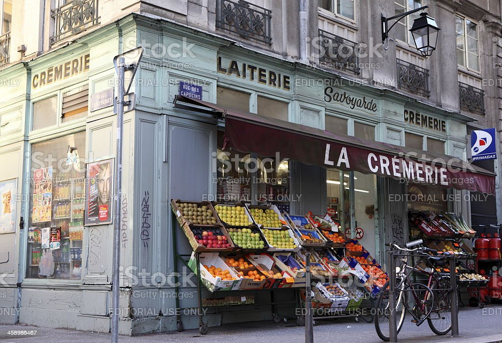 Grocery traditional french stock photo