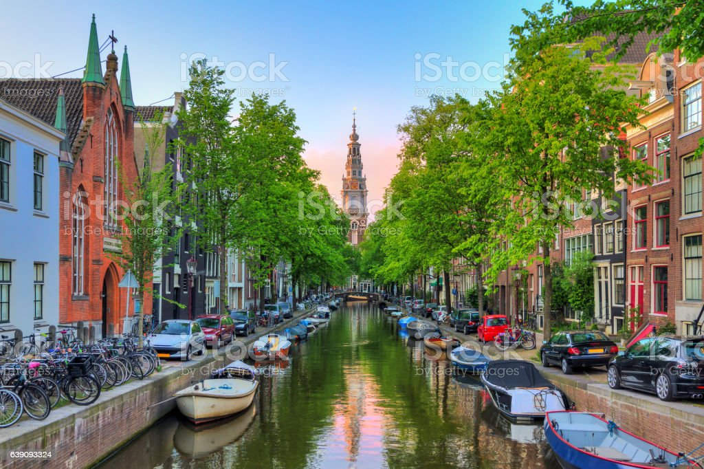 Groenburgwal in spring stock photo