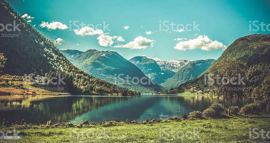 Platzes Landschaft von Norwegen – Foto