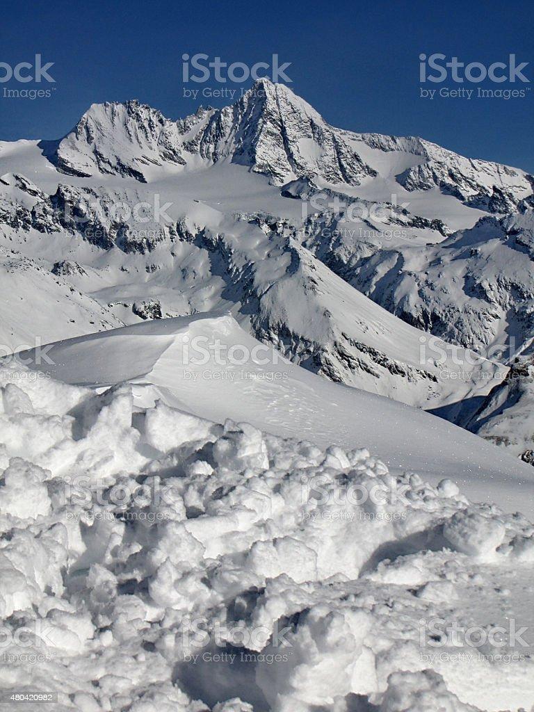 Großglockner 3798m , Austria stock photo