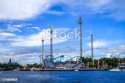 istock Grona Lund Amusement Park in Stockholm, Sweden 1216605824