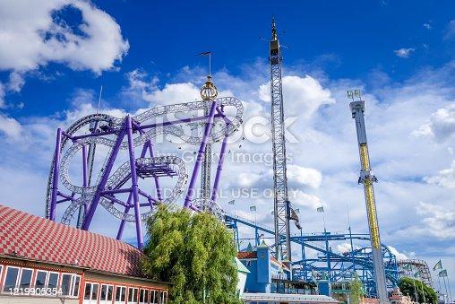 istock Grona Lund Amusement Park in Stockholm, Sweden 1219905354