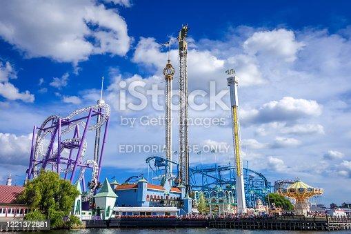 istock Grona Lund Amusement Park in Stockholm, Sweden 1221372881