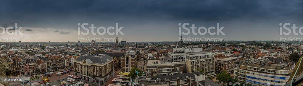 Groningen Panorama from Martini Tower stock photo