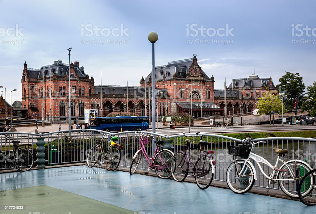 Groningen Train station stock photo