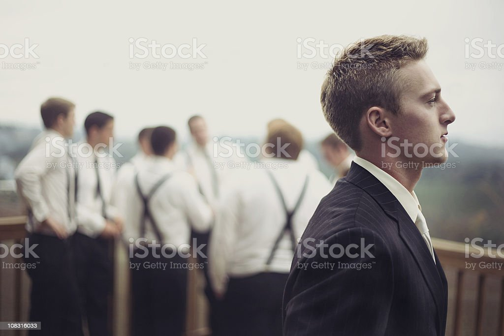 groom and his men royalty-free stock photo