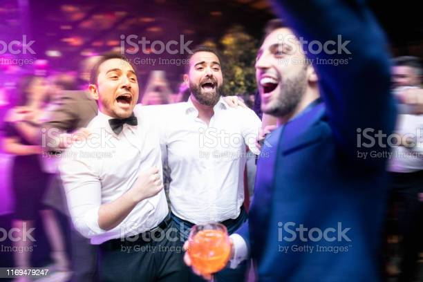 Groom dancing with friends and enjoying a wedding party picture id1169479247?b=1&k=6&m=1169479247&s=612x612&h=4lstm88otp94hckmqtgbys7rravno3ytae86olucogu=