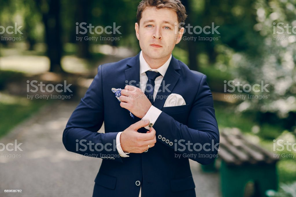 groom in Park royalty-free 스톡 사진